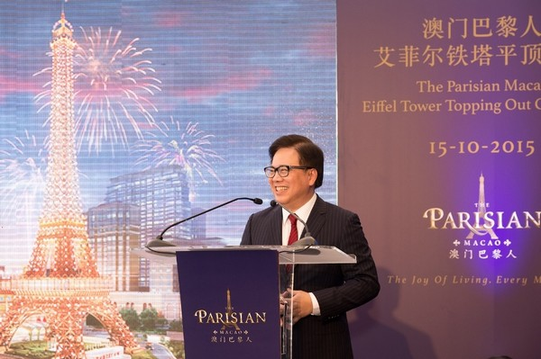 The Parisian Macao's Eiffel Tower Tops Out
