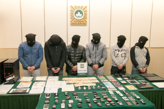 6 police officers from Macau nabbed on suspicion of organised crime