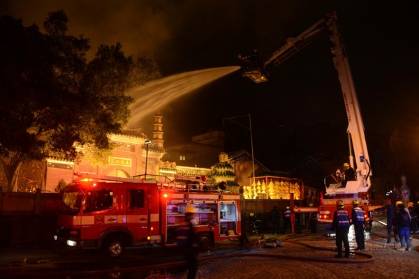 Fire breaks out at A-Ma Temple, Macau