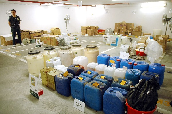 "Macau´s police bust ""ice"" materials supply base"