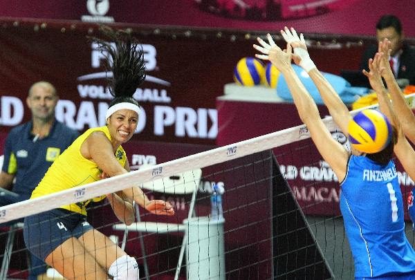 Brazil, USA, Russia and Serbia claim opening victories at WGP volley final round in Macau