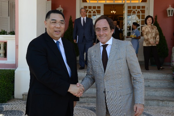 Chief Executive of Macau and Portuguese Foreign Minister discuss cooperation