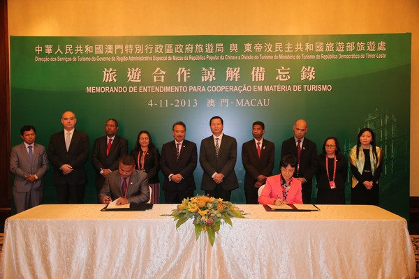 Macau signs tourism agreement with Timor-Leste