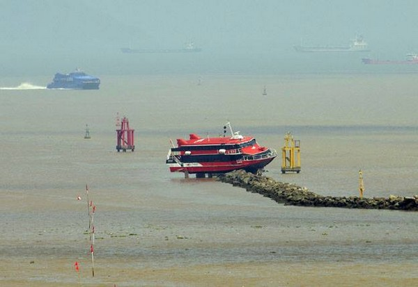Seventy injured as jetfoil crashes off Macau's Outer Harbor