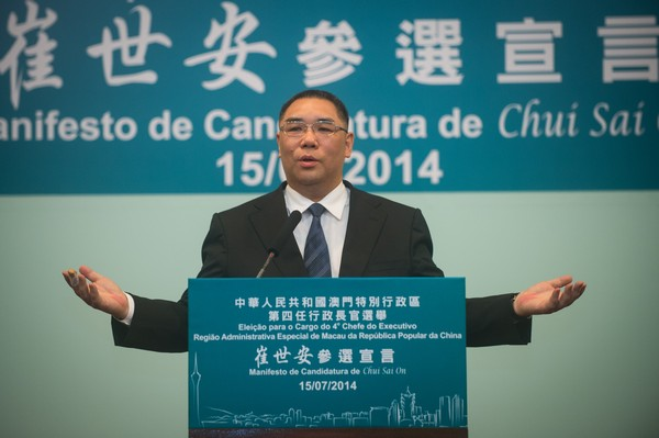Chui's manifesto focuses on people's livelihood