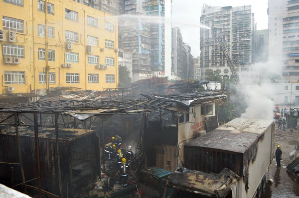 Leaking batteries possible cause of Macau warehouse blaze