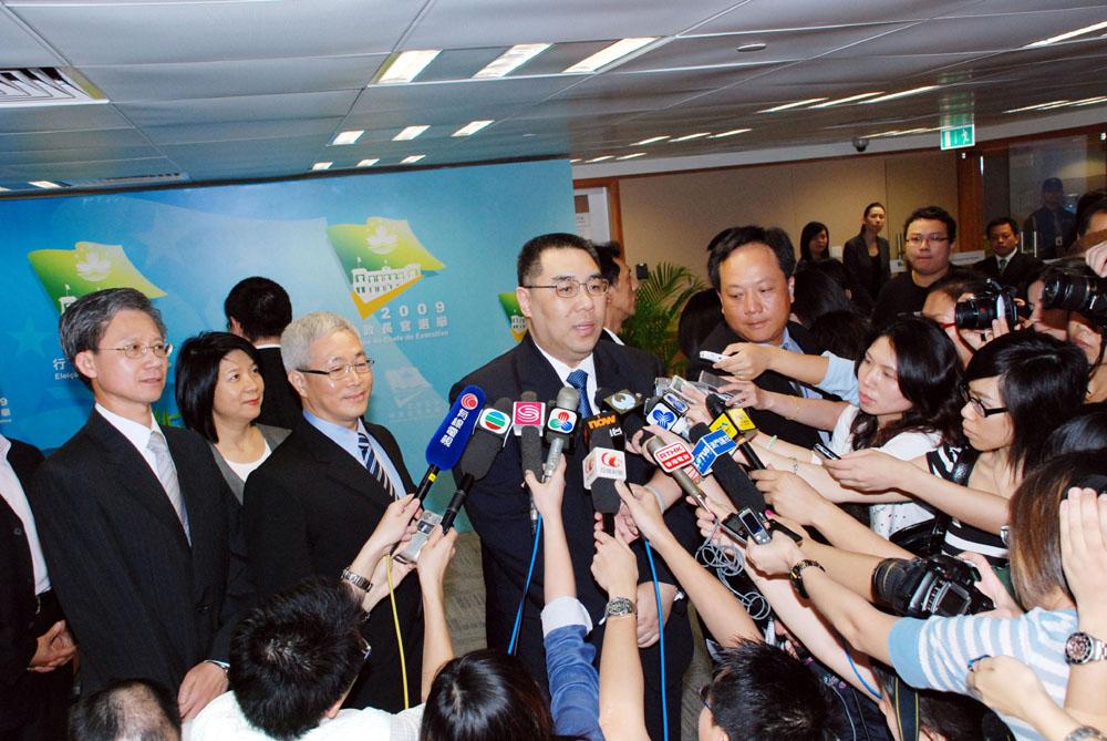 Macau's Chief Executive designate office starts working today