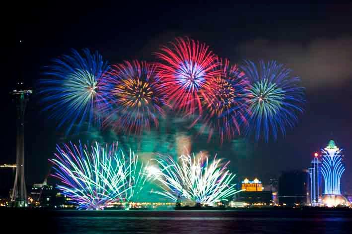Japanese company wins Macau fireworks contest again