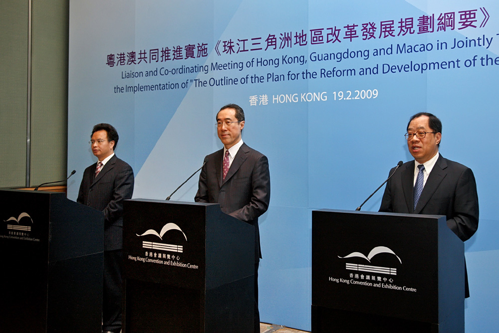 Guangdong, Macau and Hong Kong join forces to develop Pearl River Delta