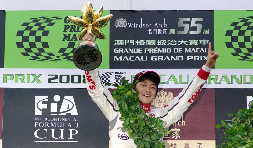 Keisuke Kunimoto wins Formula 3 Macau Grand Prix