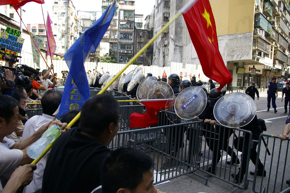 May Day protest leave 41 injured in Macau