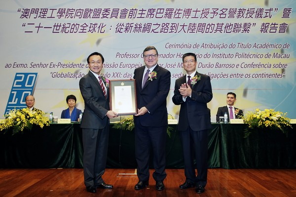 New Silk Road bring opportunities to Macau, said Durão Barroso