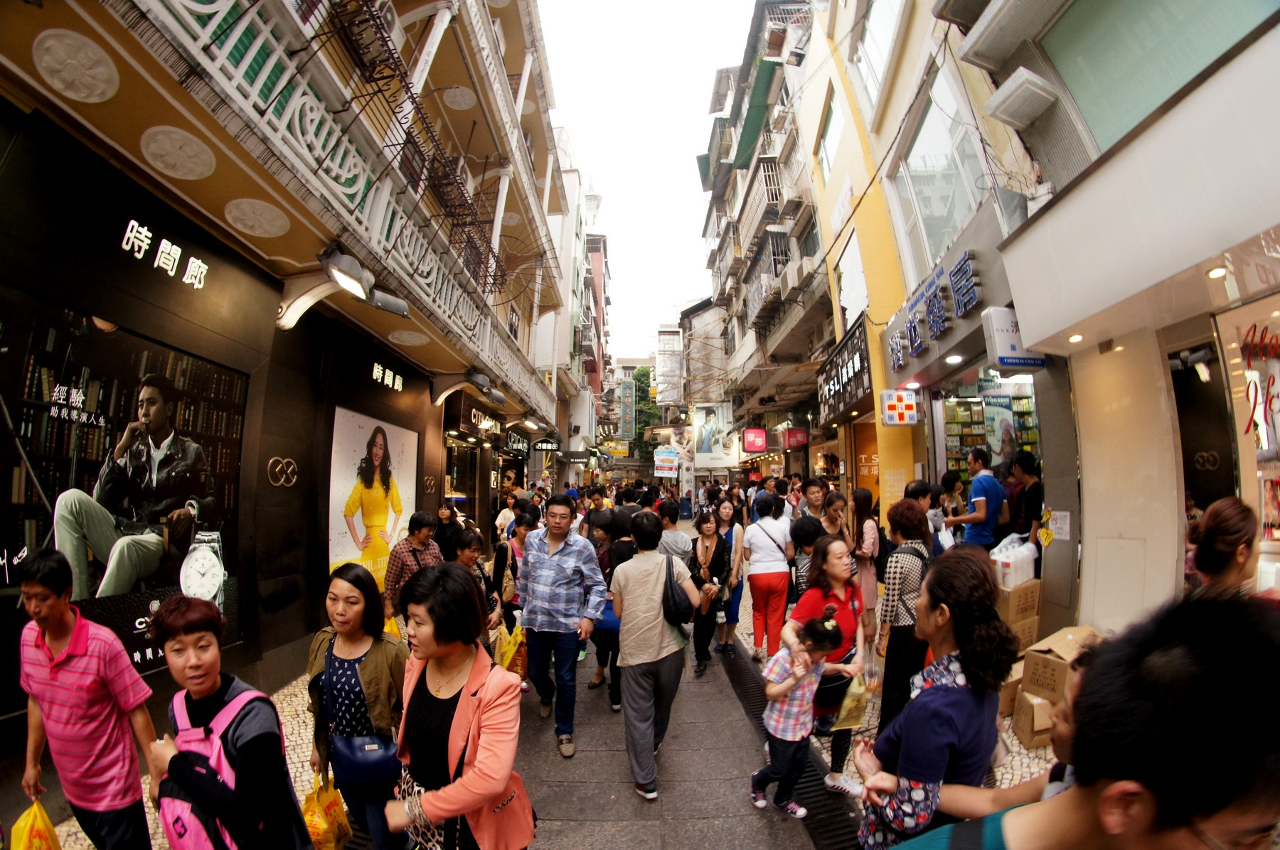 Macau records the highest population density per sq km