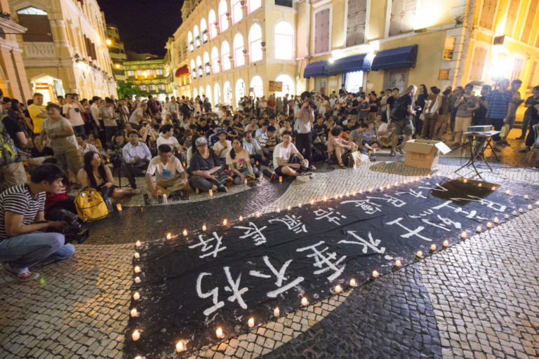 Hundreds join candlelight vigil over Tiananmen crackdown in Macau