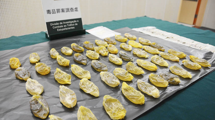Peruvian detained in Macau after swallowing 50 condoms of liquid cocaine worth 10 million patacas
