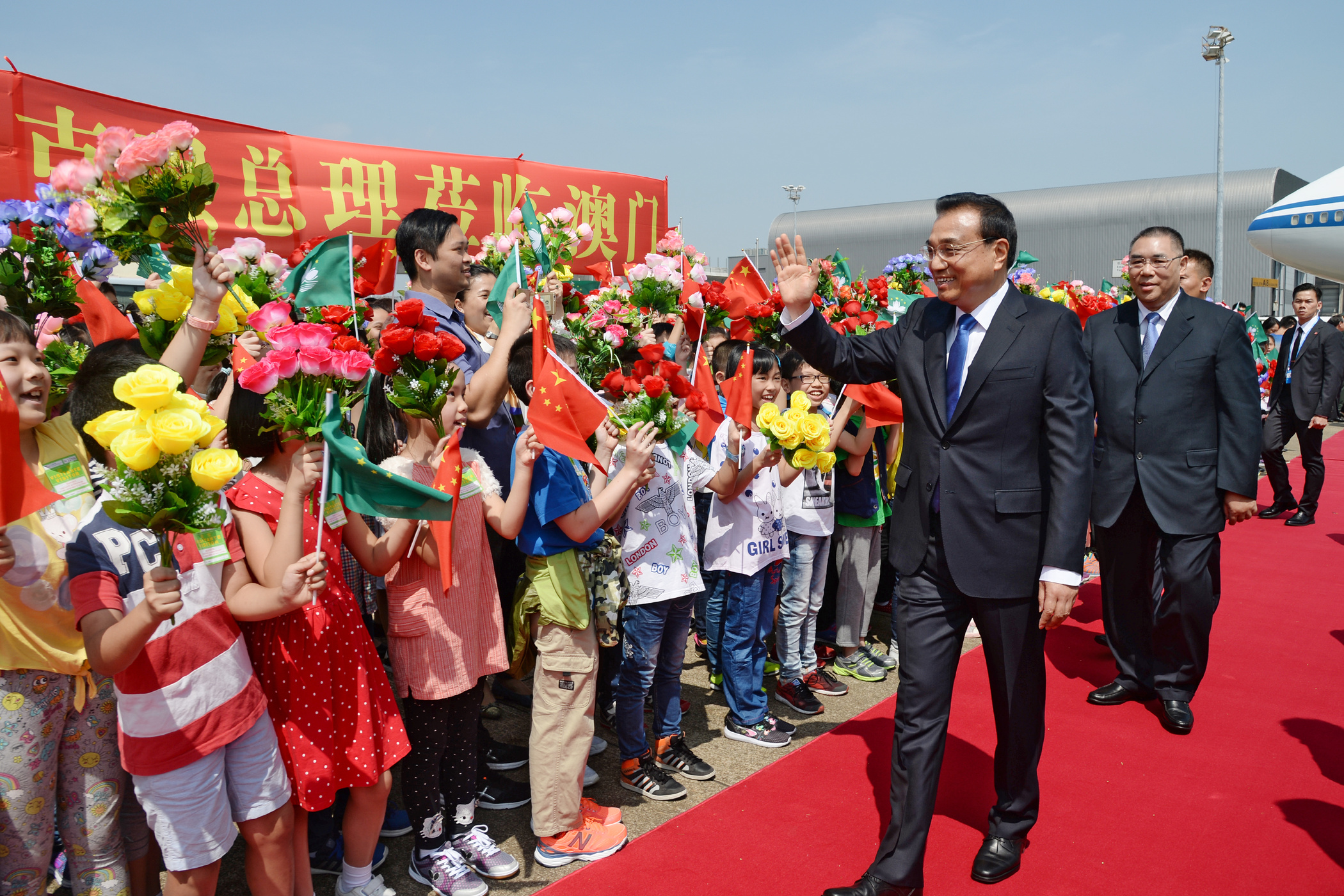 Chinese premier arrives in Macau to attend the Ministerial conference