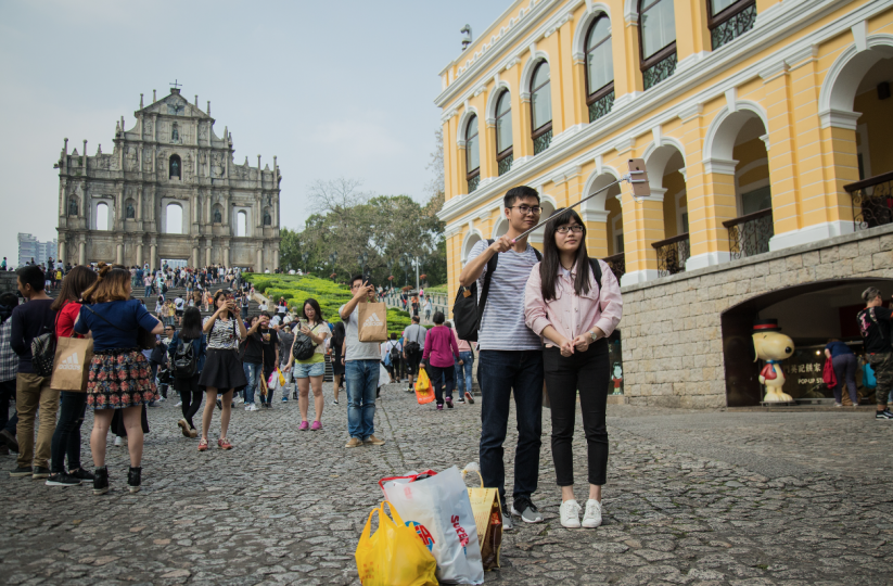 May Day visitors in Macau