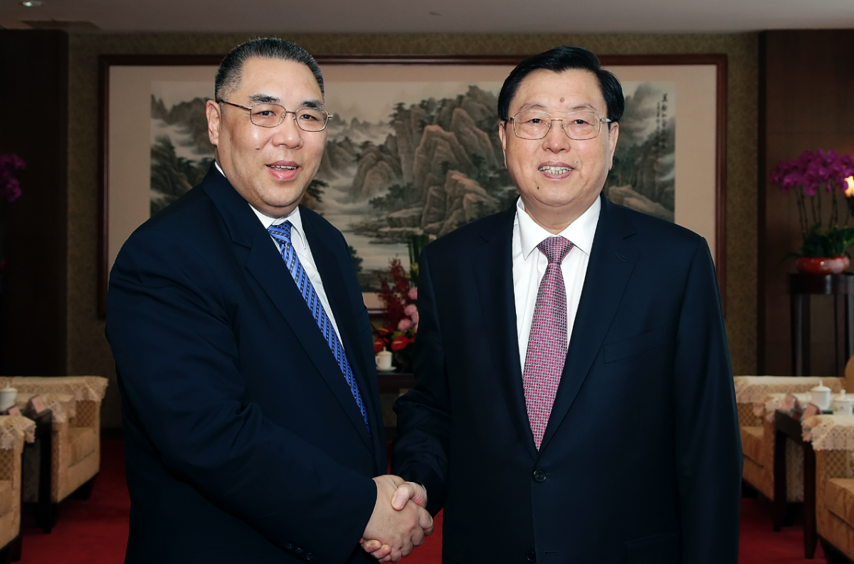 Zhang Dejiang calls for improved governance in Macau but praises achievements