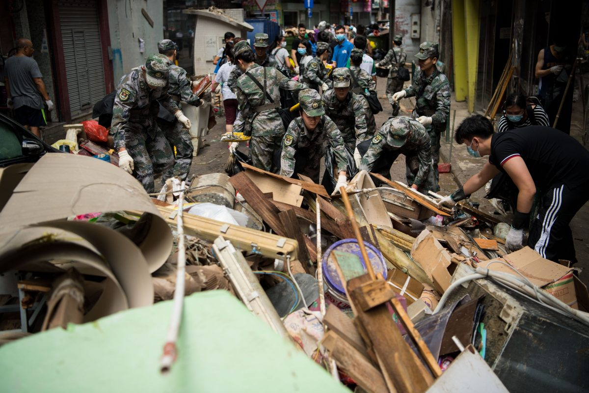 People's Liberation Army deployed and another typhoon on the way
