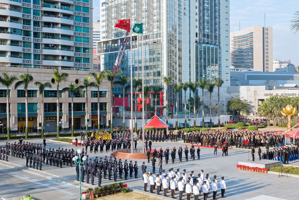 Macau must follow one country principle but take advantages of the second system said Chief Executive