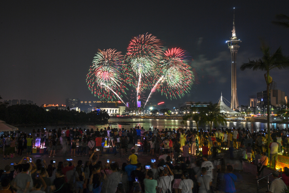 China team won the Macao International Fireworks Contest