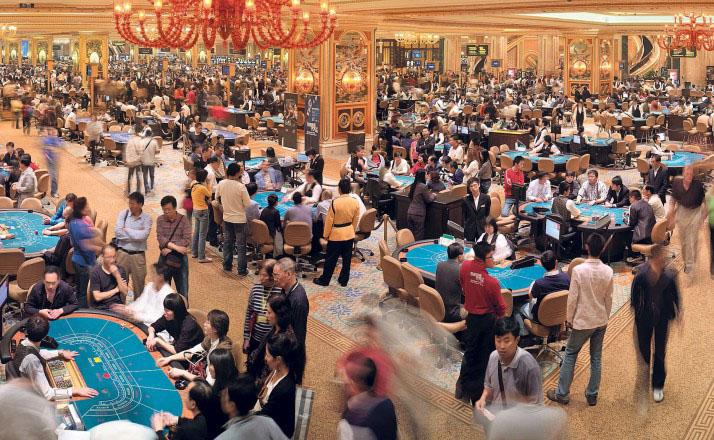 Macau casinos revenue up 2.6 percent in October