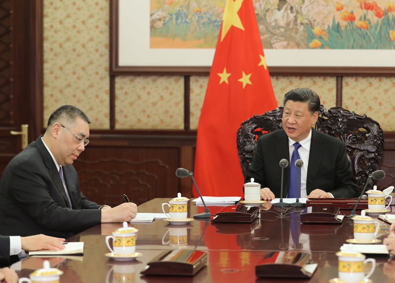 Xi 'fully endorses' work by Chui  and local govt