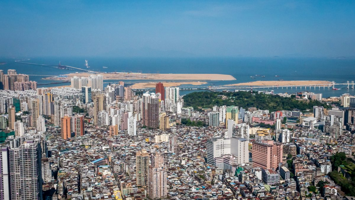 Macau land area grows by over 1/3 since 1999