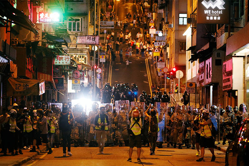 Macau ferry services suspended Sunday night over violent HK protests