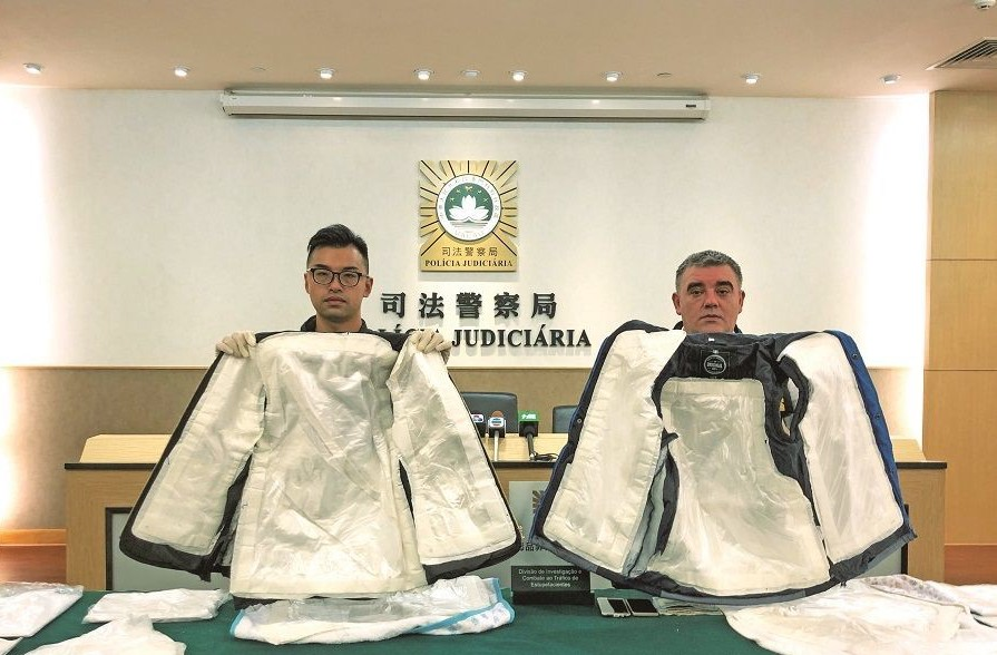 South African caught at airport with 4.5 kg of cocaine, worth 12 million patacas