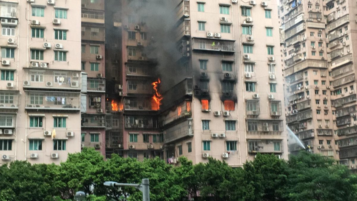 Firefighters battle blaze in residential building for 4 hours