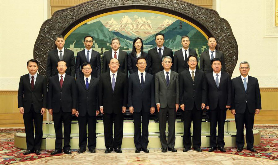 Chinese Vice premier meets Macau's new government