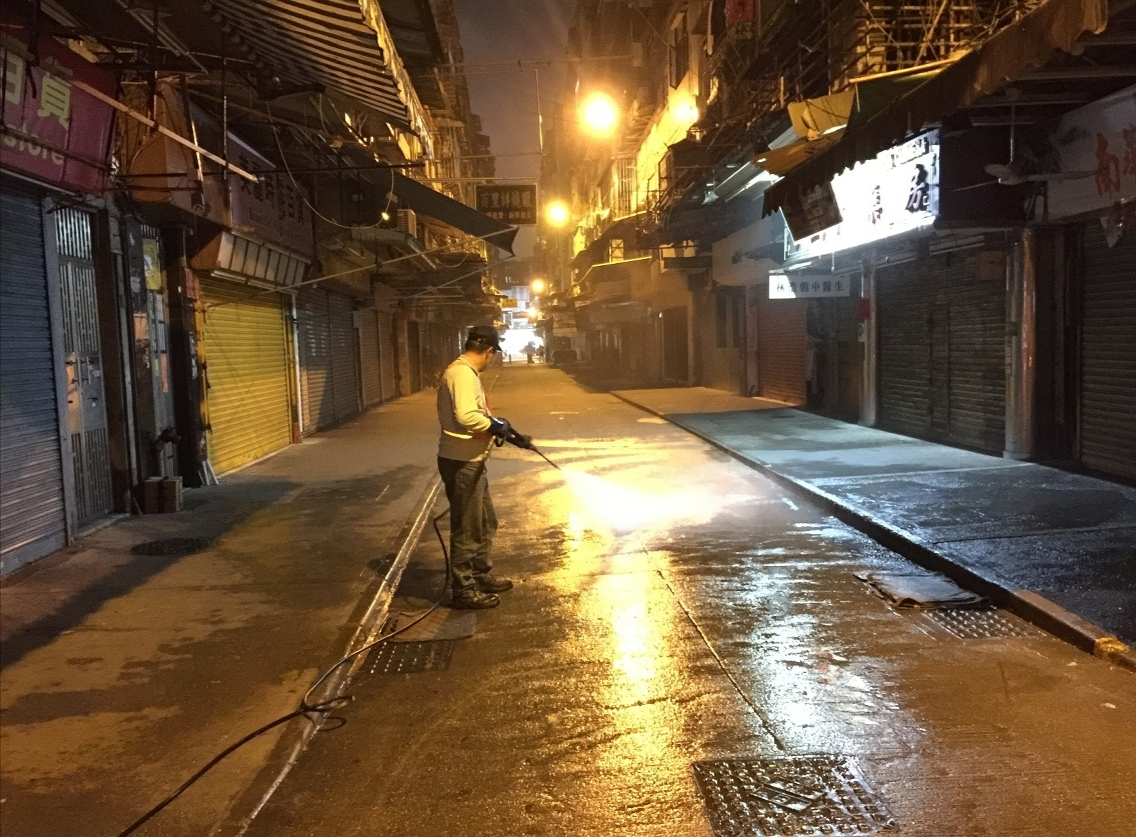 IAM boosts cleaning of street vendor areas to fight COVID-19