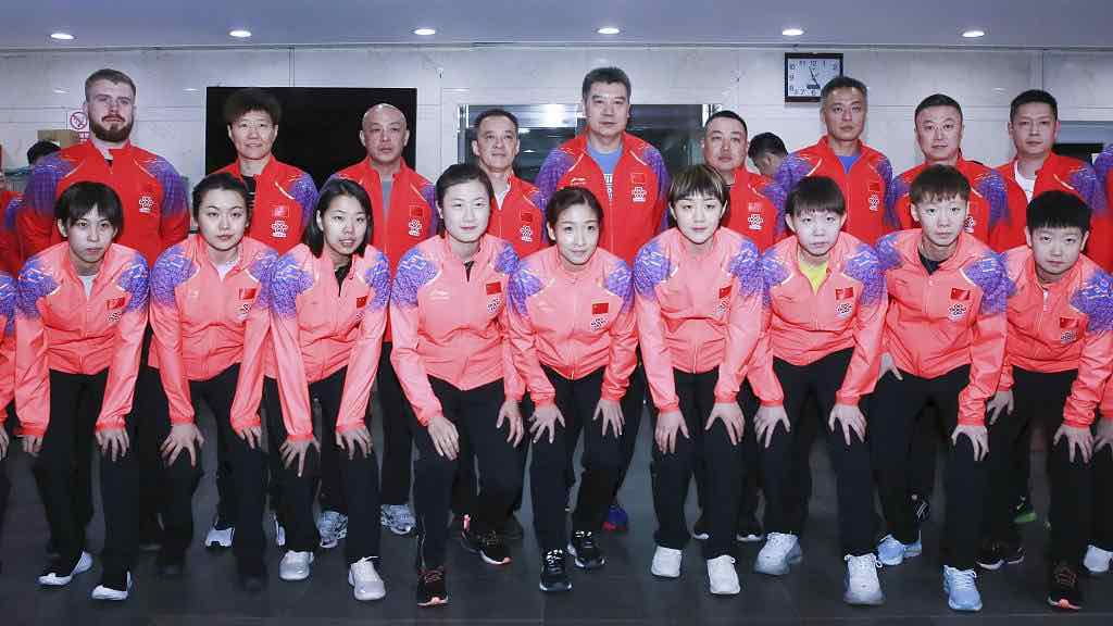 Chinese national table tennis team in Macau for training after Qatar games