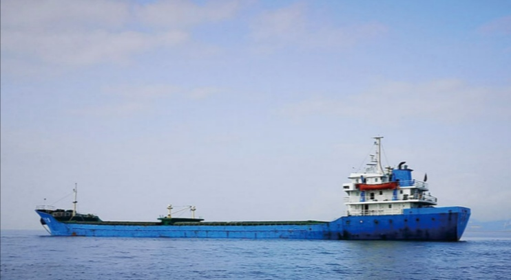 Cargo ship caught for violation of marine rules