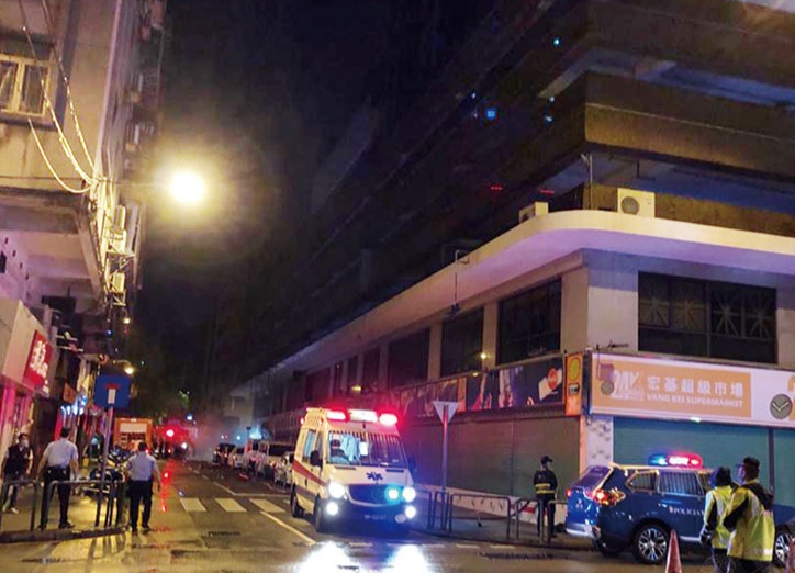 Fire in Fortune Tower's switch room causes blackout, 2 in hospital