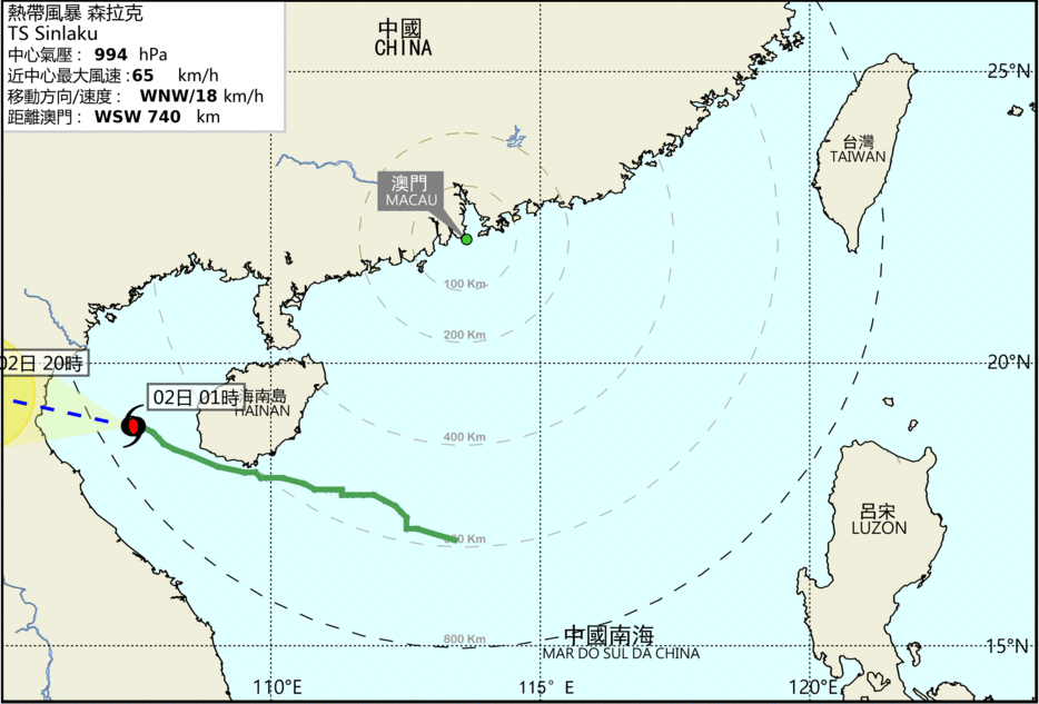 Macao lowers all tropical cyclone signals