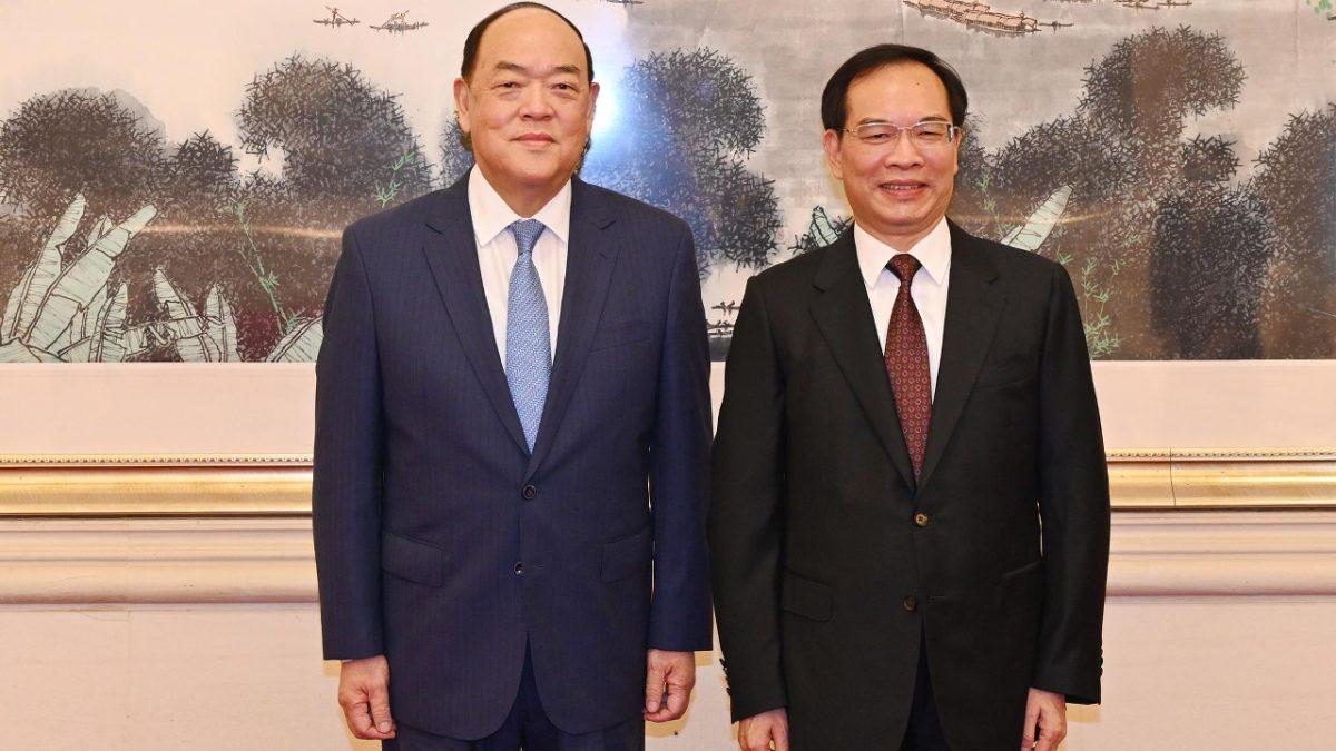 Ho meets senior officials in Beijing to strengthen cooperation