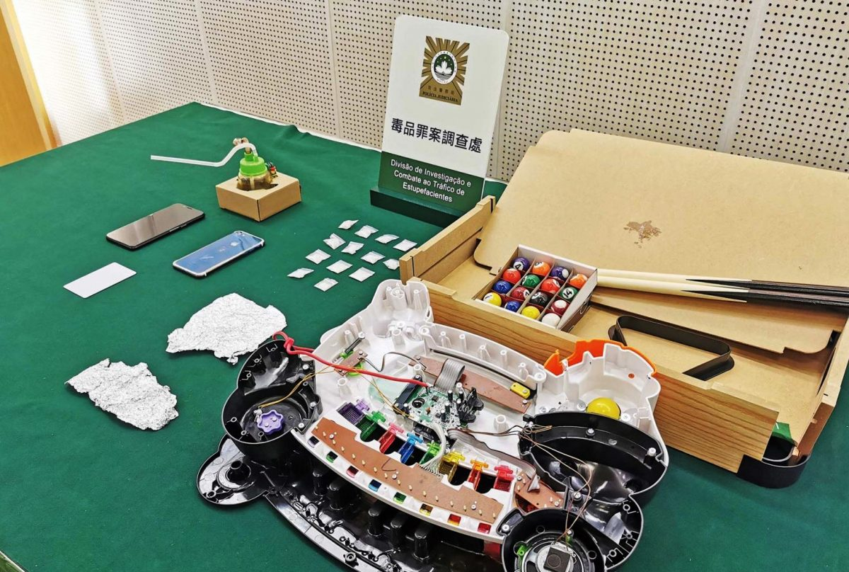 Ice hidden in toys sent by express mail to Macao