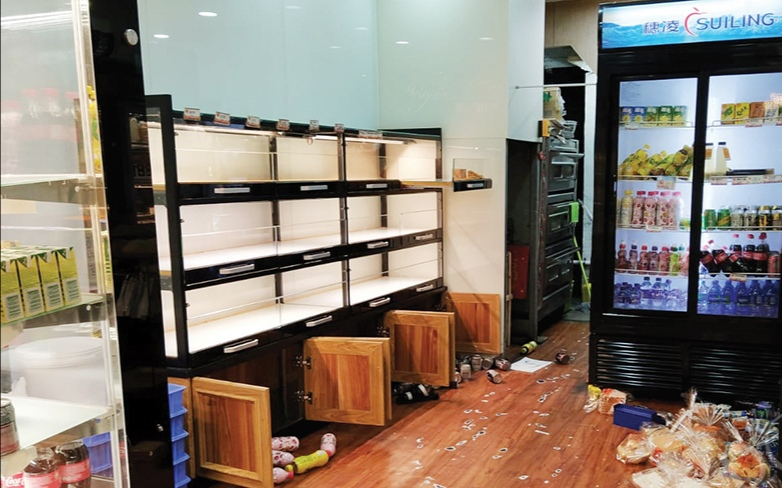 Bakery staff seriously hurt after hit by bread shelf