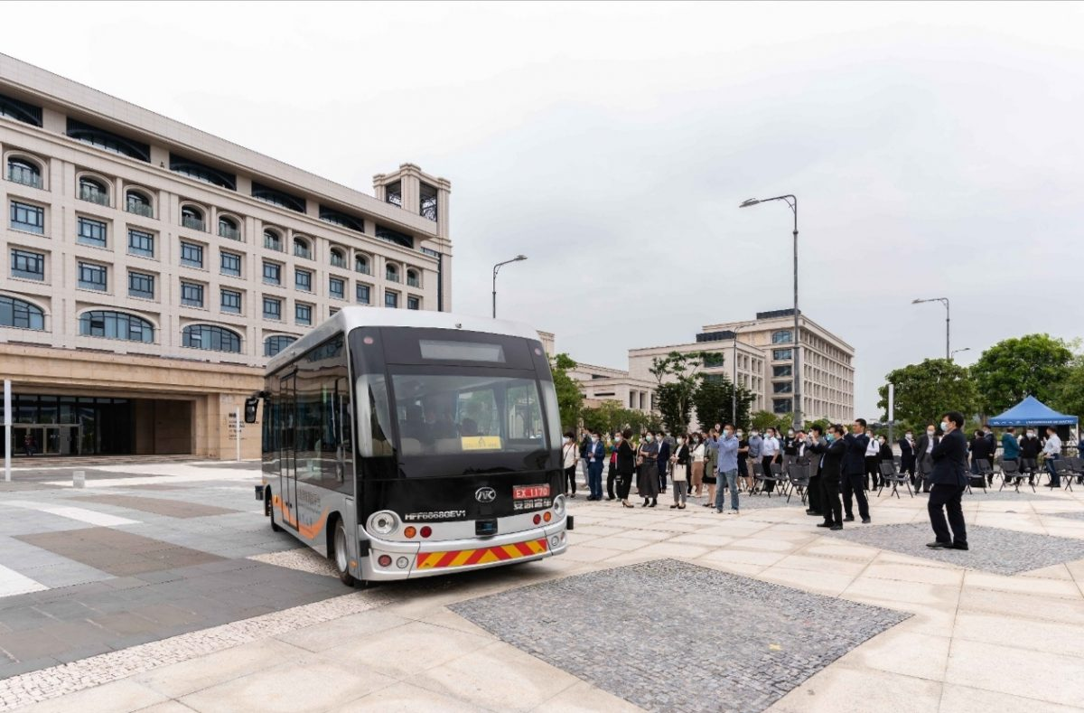 Macao's 1st autonomous bus runs on UM campus