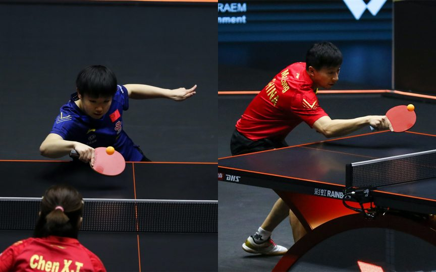 World Table Tennis (WTT) tournament winners Sun Yingsha and Ma Long from mainland China.
