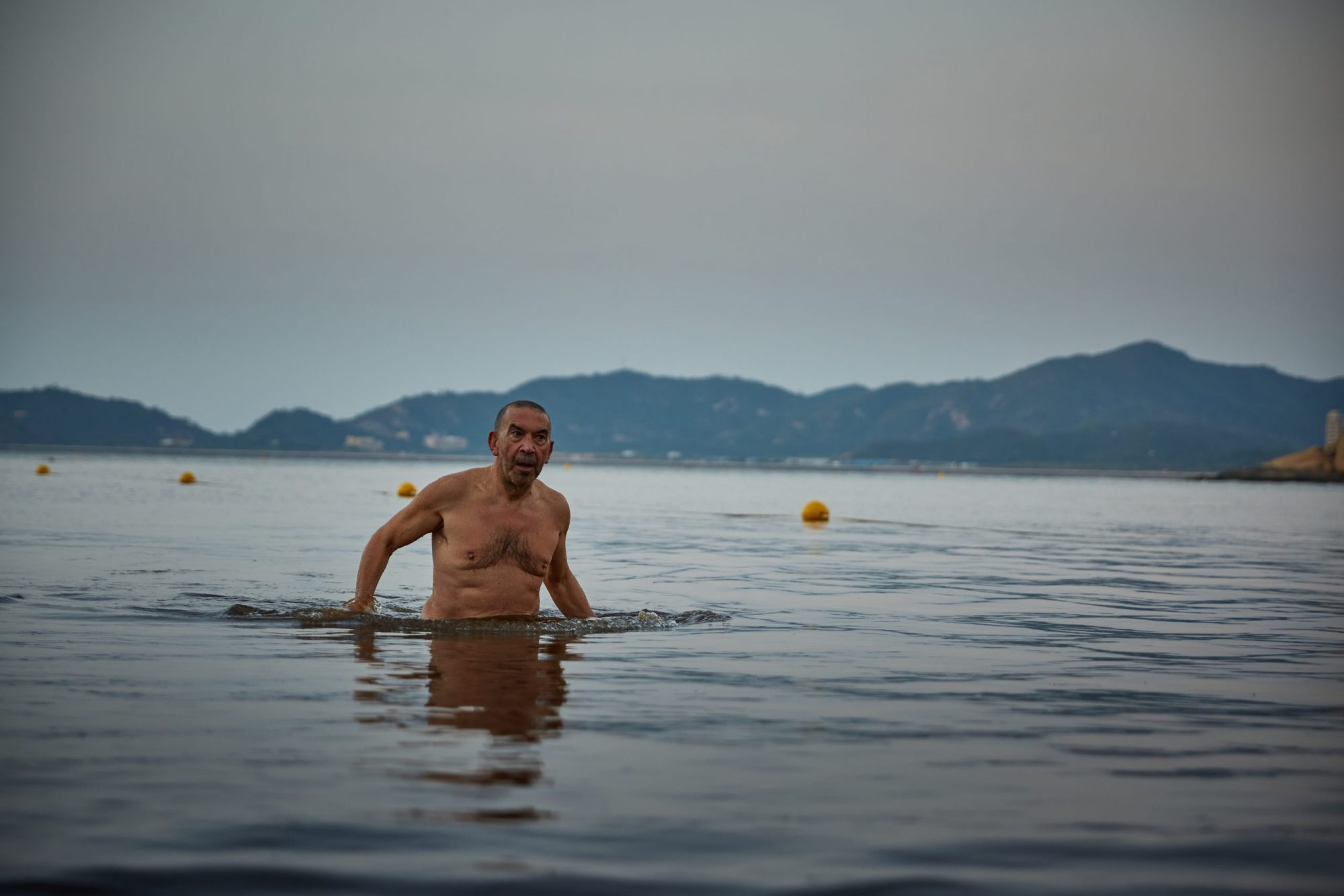 Manuel Geraldes joins the Macao Winter Swimming Club every morning