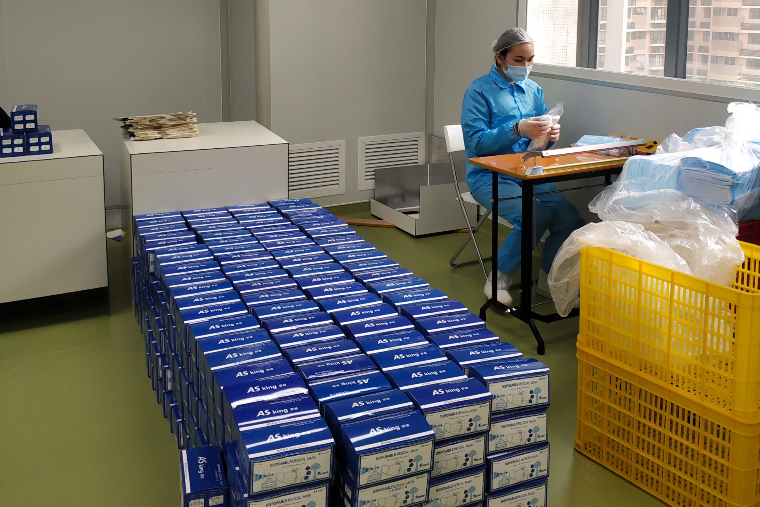 AS-King Facemasks being packed into boxes | Photo Courtesy of AS-King Medical Products