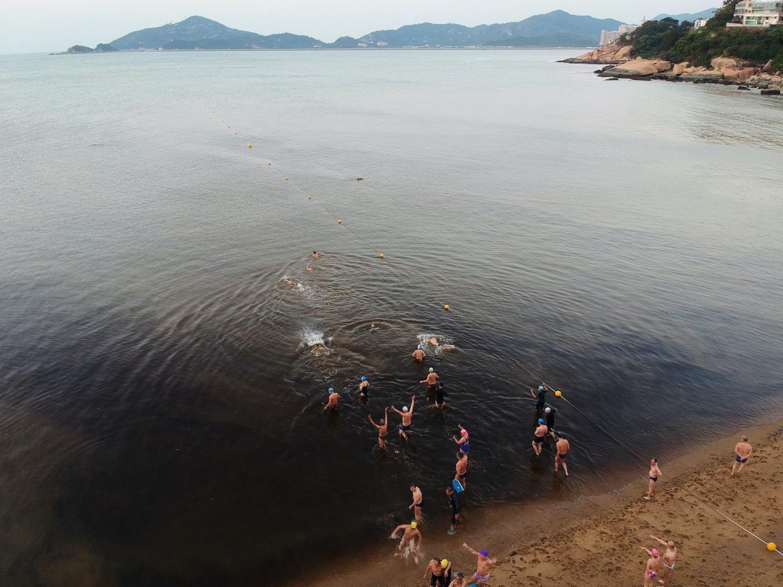 Macao Winter Swimming Club Dron shot