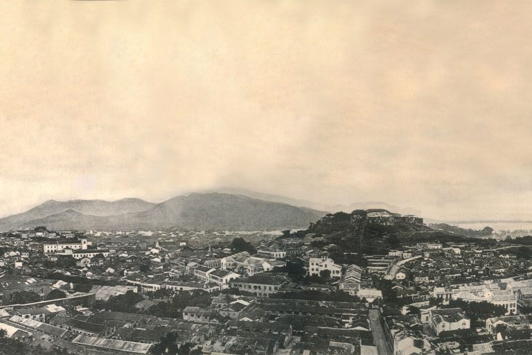 Macao panoramic view with Macao Fort in the centre (before 1910) - Photo courtesy of Cultural Affairs Bureau of Macao