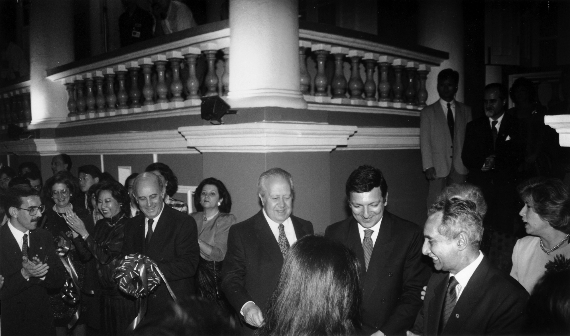 General Vasco Rocha Vieira, Dr Mário Soares and Dr Durão Barroso at the club's inauguration in 1995 - Photo Courtesy of the Military Club