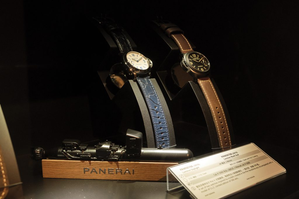 Some pieces in the Panerai collection at the museum - Photo by António Sanmarful
