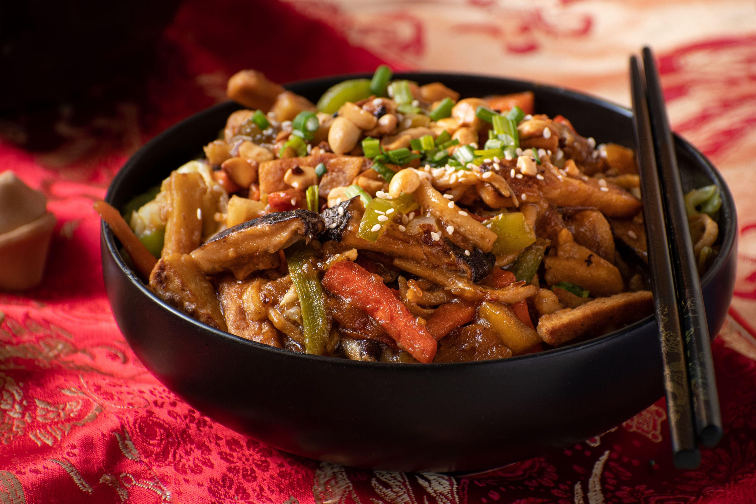 Traditional Chinese Buddha's Delight stir fry for Chinese New Year - Photo by Adelina