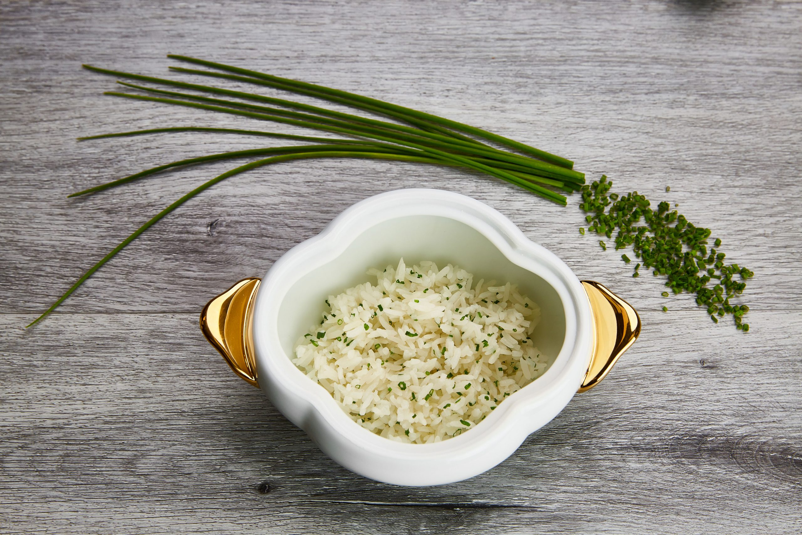 Rice with chives